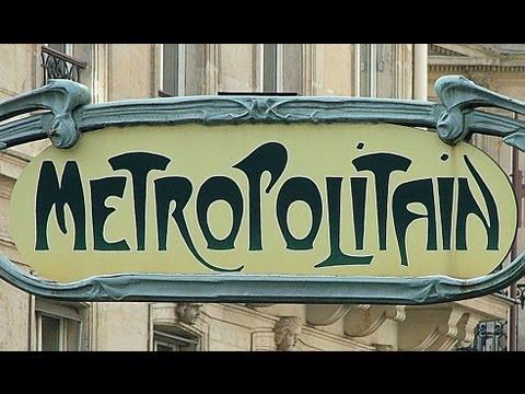 Hector Guimard, Entrance Gate to Paris Subway (Métropolitain) Station, Paris, France
