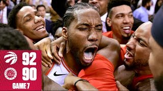 Kawhi sinks first-ever Game 7 buzzer-beater to end the 76ers' season  | 2019 NBA Playoff Highlights