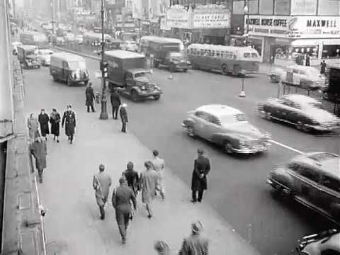 New York Civil Defense drill. 1950's