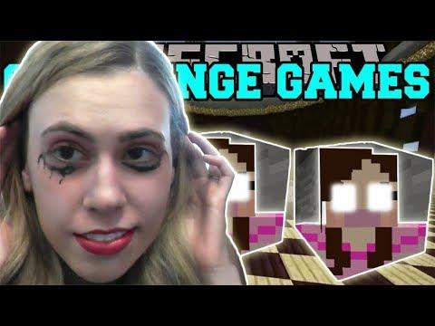 PopularMMOs Pat and Jen Minecraft Evil Jen CHALLENGE GAMES - Lucky Block Mod - Modded Mini-Game
