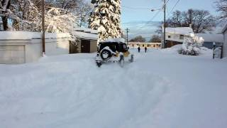 Jeep Wrangler Busts Through Deep Snow