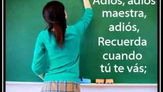Tu me ensenaste a volar mi maestra de kinder viyoutube for Adios jardin querido