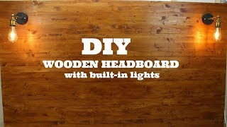 DIY Wooden Headboard With Built-in Lights