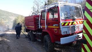 Incendie au-dessus des Gorges-du-Tarn et de Sainte-Enimie : immersion en vidéo aux côtés des secours