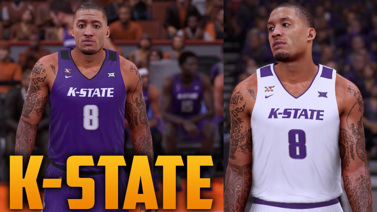 537a34255dd5 NBA 2K16 Kansas State Wildcats Jersey   Court Tutorial - YouTube