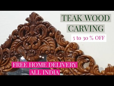 AMAZING TEAK WOOD CARVING AND STRAIGHT LINE  FURNITURE | FREE ALL INDIA DELIVERY