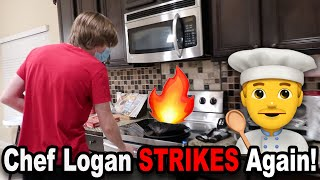 Chef Logan STRIKES Again!!! *BTS*
