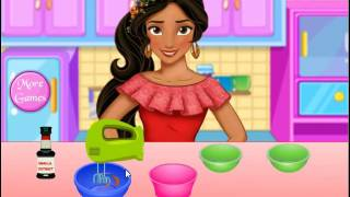 Game Making cakes with Elena - fun video games for little kids