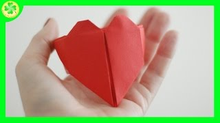 Pierścień z serca origami / Heart origami ring