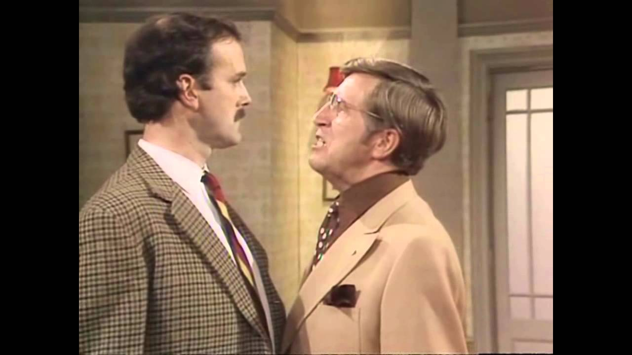 Image result for fawlty towers I am going to bust your ass gif