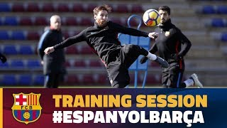 Last training session before the league game against Espanyol
