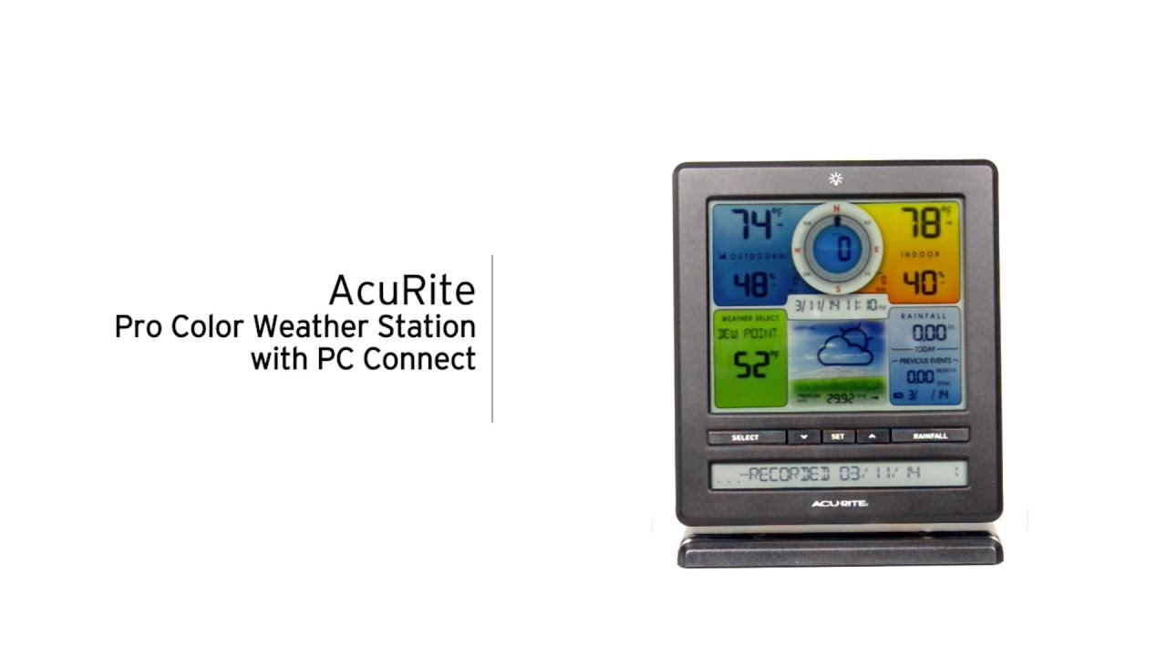 acurite 02032 888143 pro weather station with pc connect