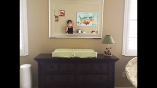 How I Organize The Baby Diaper Changing Table/dresser