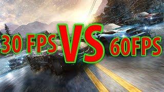 30 vs 60 FPS (in 5 games)