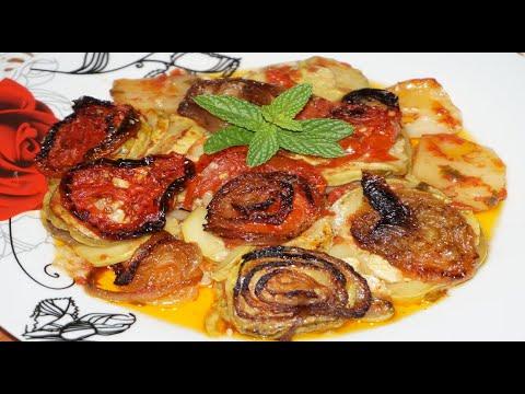 Μπριάμ Πεντανόστιμο- Παραδοσιακό – Zucchini with Potatoes and Tomatoe , in the oven/Stella Love Cook