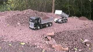 Scania dumptruck with trailer