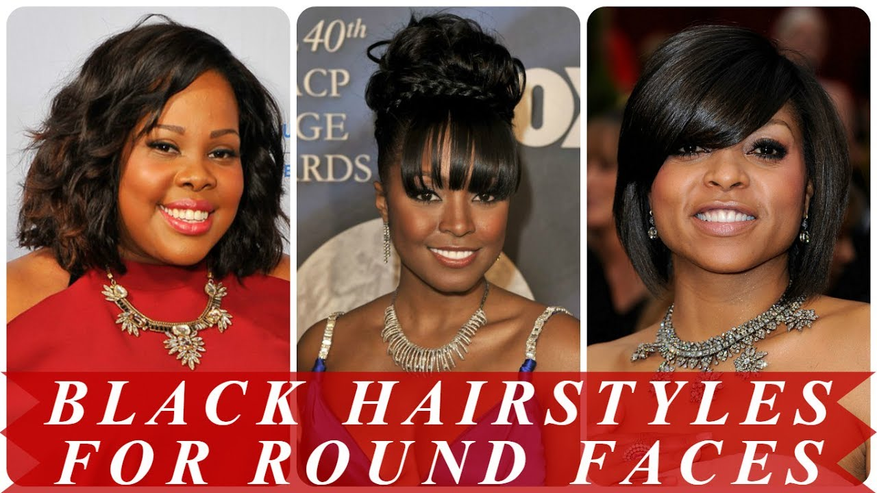 Cute Hairstyles For Round Faces Black Women Youtube