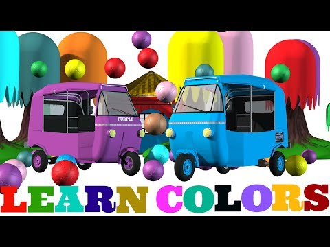 Learn Colors With Auto Rickshaw / Tuk Tuk| Colors For Kids To Learn | Videos for Children