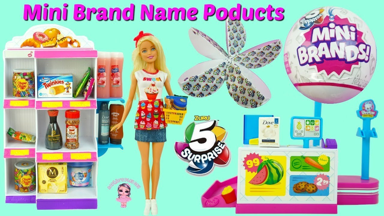 Zuru 5 Surprise Mini Brands Barbie And Lol Surprise Hairgoals