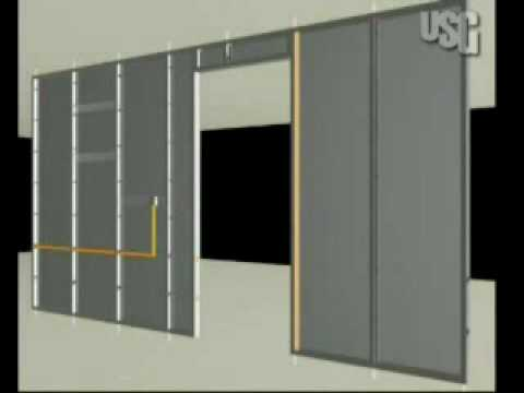 Construcciontv usg instalaci n de paneles de yeso usg a - Instalacion de pladur en paredes ...
