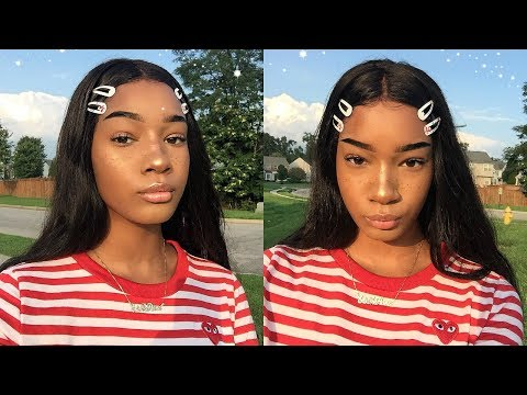 a chatty grwm: straight brows + faux freckles ☆
