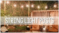 DIY String Light Posts