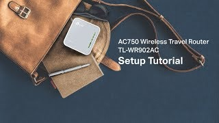How to install and configure your TP-Link portable router(TL-WR902AC)