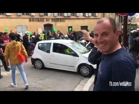 Violente altercation entre un automobiliste et des motards Aix-en-Provence
