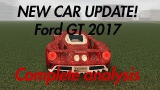 NUEVA ACTUALIZACION DE SUPERCAR (FORD GT 2017) (ANÁLISIS COMPLETO) Roblox Vehicle Simulator