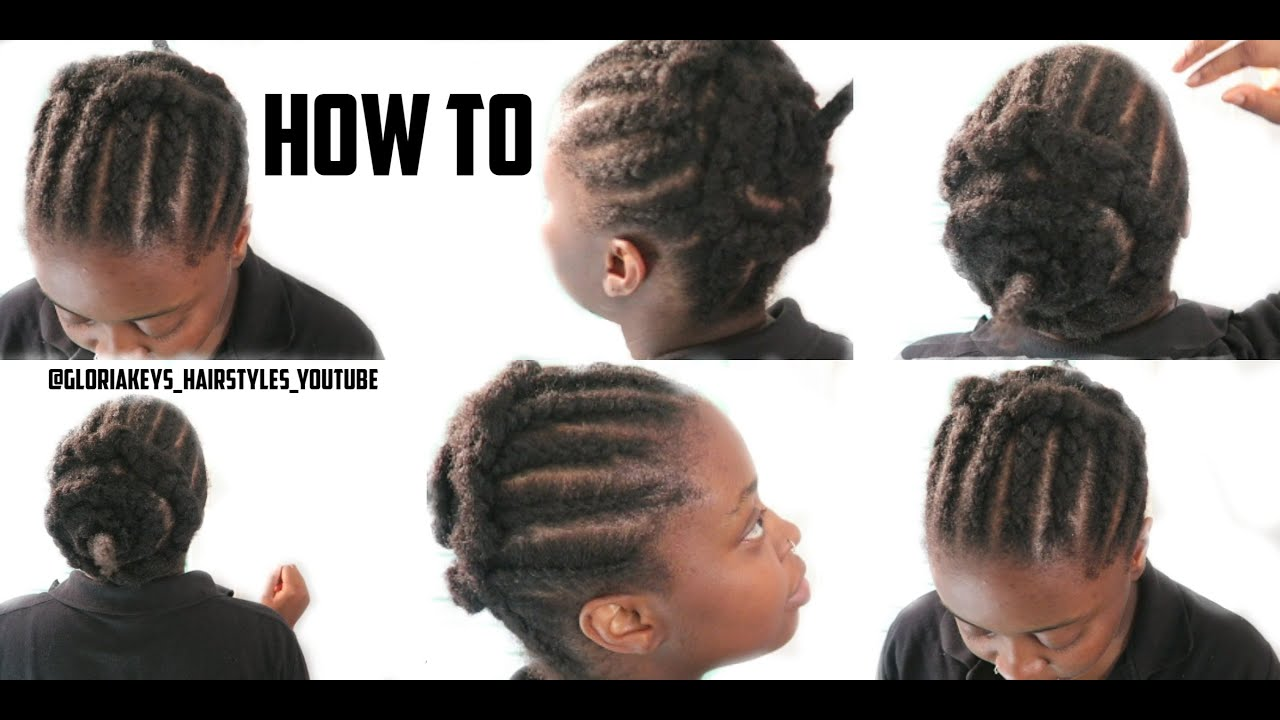 DIY HOW TO BEST BRAID PATTERN CORNROWS FOR CROCHET BRAIDS - Diy braid pattern