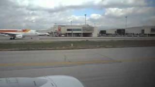 Landing at Palma Airport Majorca