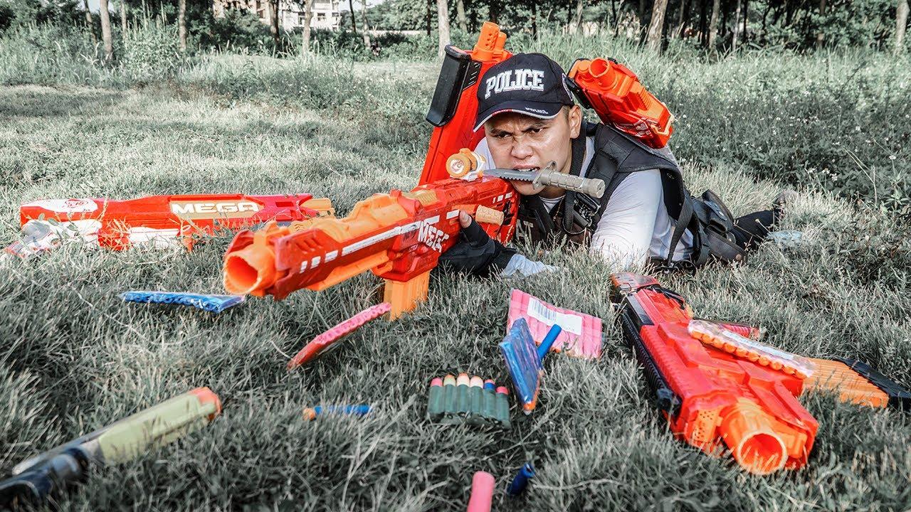 LTT Game Nerf War : Police Patrol Warriors SEAL X Nerf Guns Fight Rocket Crazy Fugitive Criminals