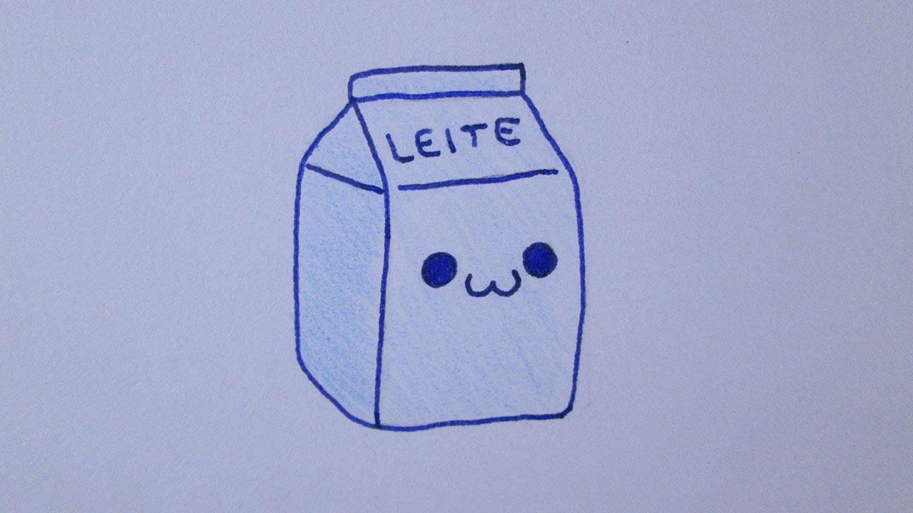 Como Desenhar Uma Caixa De Leite Muito Fofa