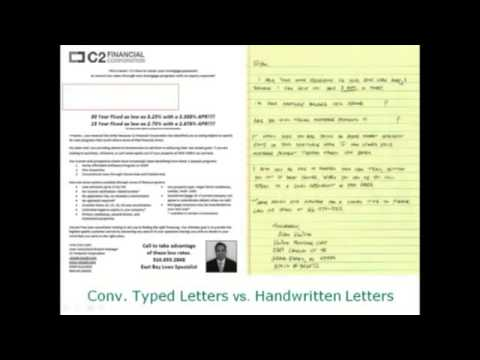 Mortgage Direct Mail ROI Case Study Handwritten vs B+W Typed Letters