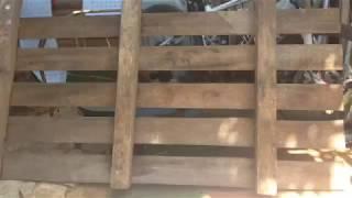 עמית גנון -מדפים למטבח ממשטח מעץ ישן.palet. Shelves