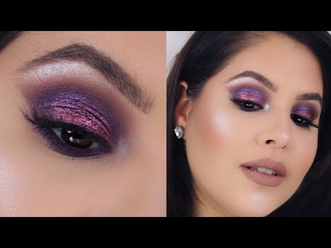 Sleek Purple Smokey Eye Makeup Tutorial