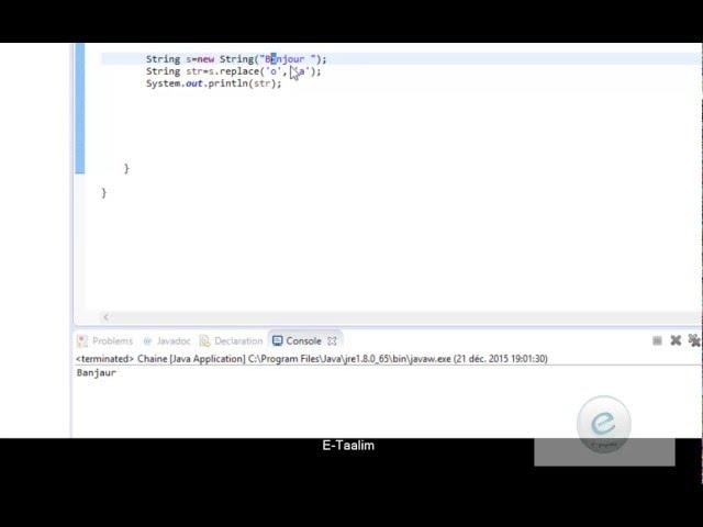 Java : modification d'une chaîne
