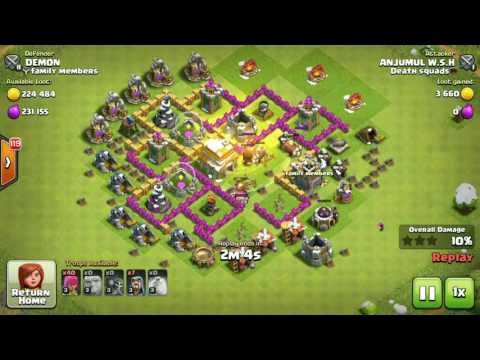 !!Clash Of clan Loot Attack (Must Watch)!!