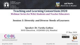 [COOL Webinars | TALC 2020 | Teacher Education] Session 3: Diversity and Diverse Needs of Learners