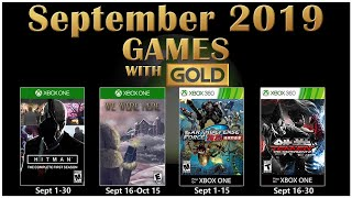 Xbox Live Games With Gold September 2019
