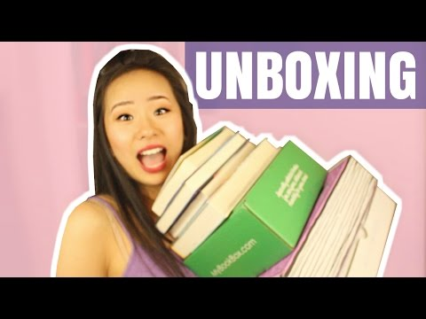 UNBOXING OF THE BEST STUFF IN THE BOOK WORLD.