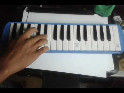 Tutorial not melodica / pianika cover Alan Walker - Alone