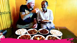 Spicy INDIAN FOOD at TODDY SHOP on the Road from Munnar to Kochi | Kerala, India