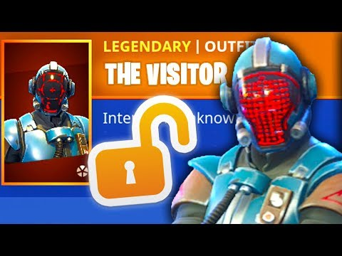 NEW Fortnite The VISITOR BLOCKBUSTER SKIN Gameplay! (PS4/Switch/PC/Mobile)
