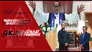 Ibadah Minggu Online    GKJW Jemaat Peniwen    Minggu, 22 November 2020