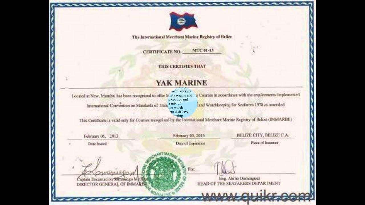 Bosiet course (Yak Marine) in Navi Mumbai