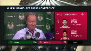Coach Budenholzer on Bucks' win over Rockets
