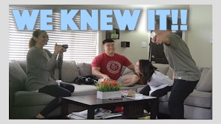Surprise Pregnancy Announcement Hidden Camera Ft. Bart Kwan and Geovanna Antoinette
