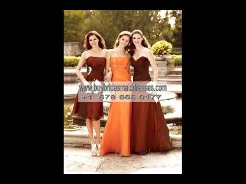 85. Burnt Orange Bridesmaid Dresses.flv