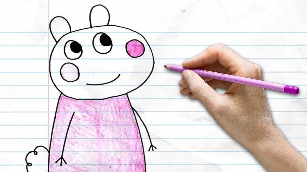 How to Suzy Sheep | Learn to Draw | Pocket Preschool